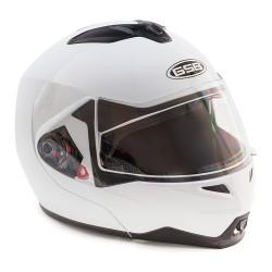 Шлем модуляр GSB G-339 с солнцезащитными очками  белый (с  Bluetooth гарнитурой)