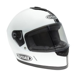 Шлем интеграл GSB G-349 чёрно-белый