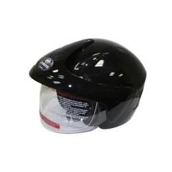 Открытый шлем CFMOTO V520 глянцевый чёрный